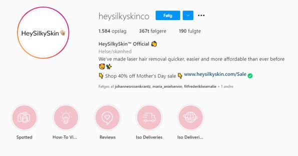 Instagram højdepunkter
