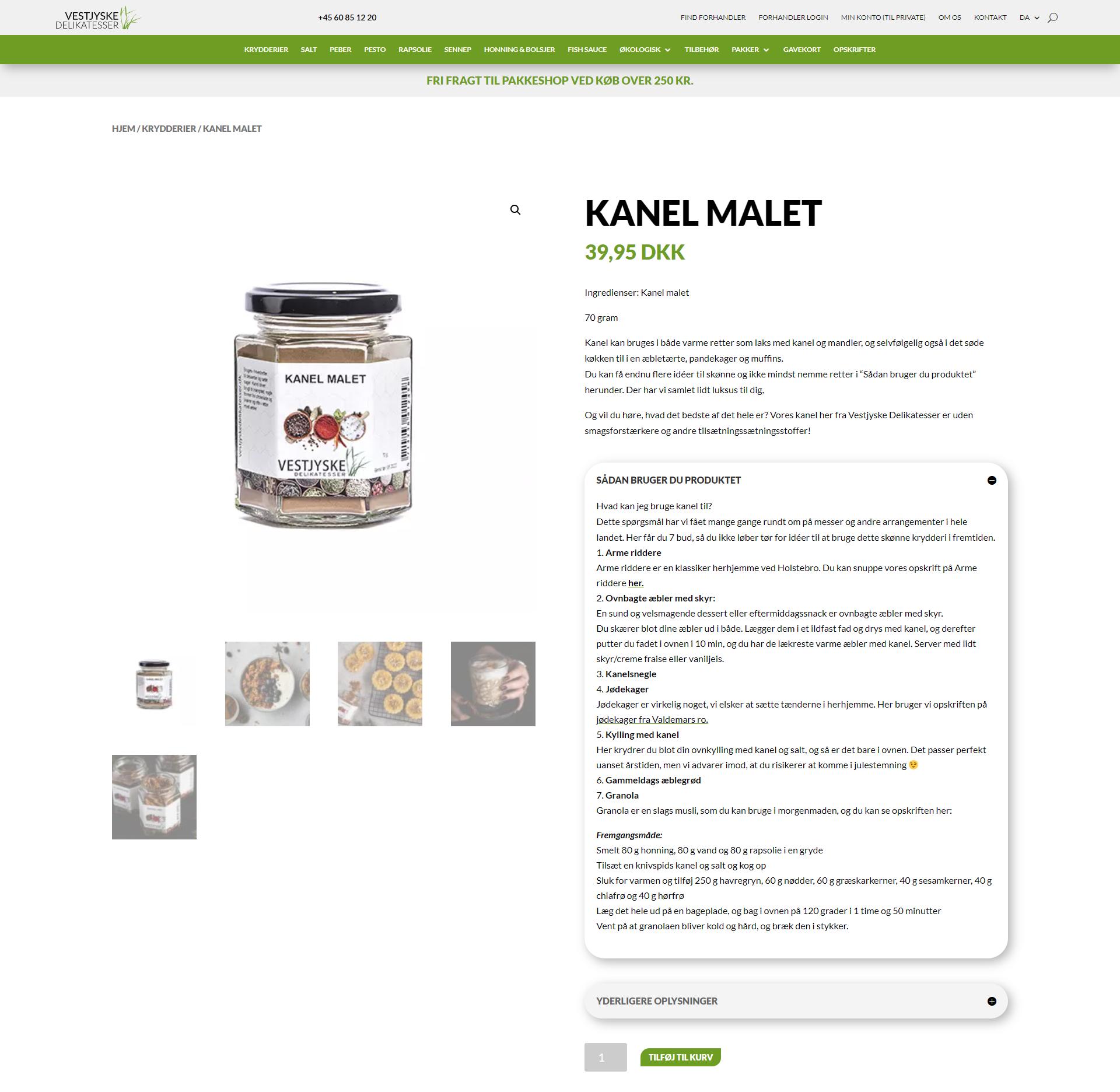 Vestjyske Delikatesser - Kanel produkttekst